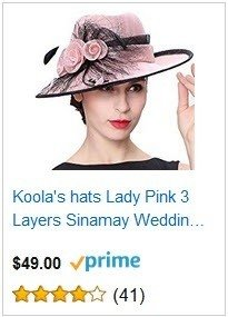 Koola's hats Champagne Brown 3 Layers Sinamay Kentucky Derby Church Sun Summer Hats - Pink