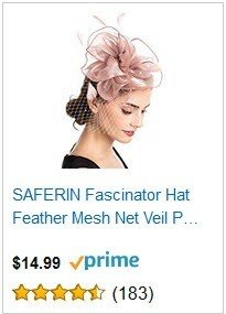 SAFERIN Pink Fascinators Hat Sinamay Flower Mesh Feathers on a Headband and a Clip Tea Party Headwear for Girls and Women