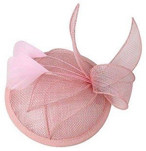 Mai Yi Sinamay Pink Fascinator Pillbox Hat Headband Hair Clip for Cocktail Tea Party