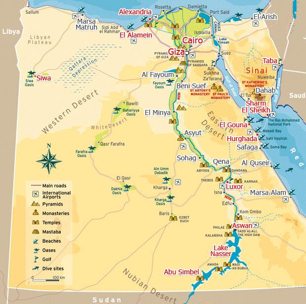 Egypt Travel Map Sportstlecom - Map of fayoum egypt