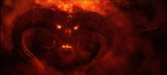 The Balrog Durins Bane, flame of Urun, in the mines of Moria.