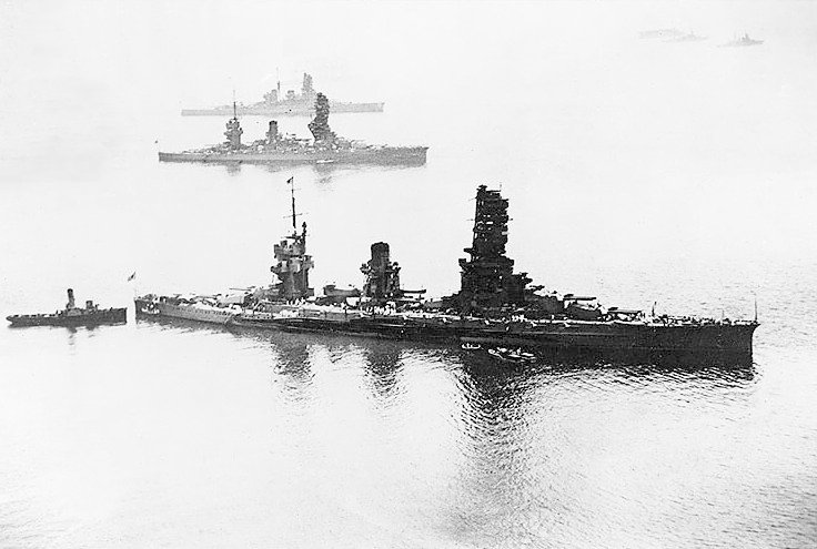 Imperial Japanese Navy battleships in the Pacific.