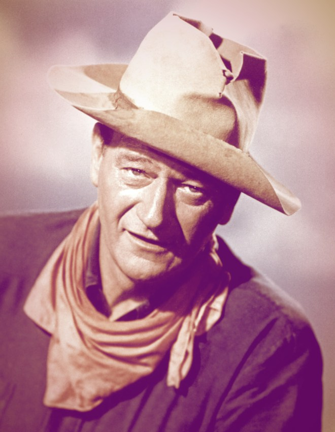 Picture of John Wayne in his cowboy hat.
