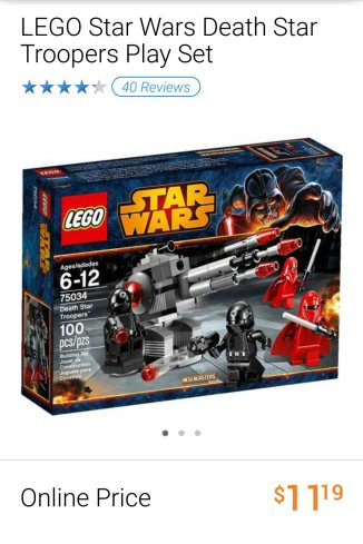 Lego Star Wars Death Star Troopers set