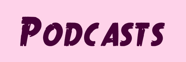 "Image with text ""podcasts""."