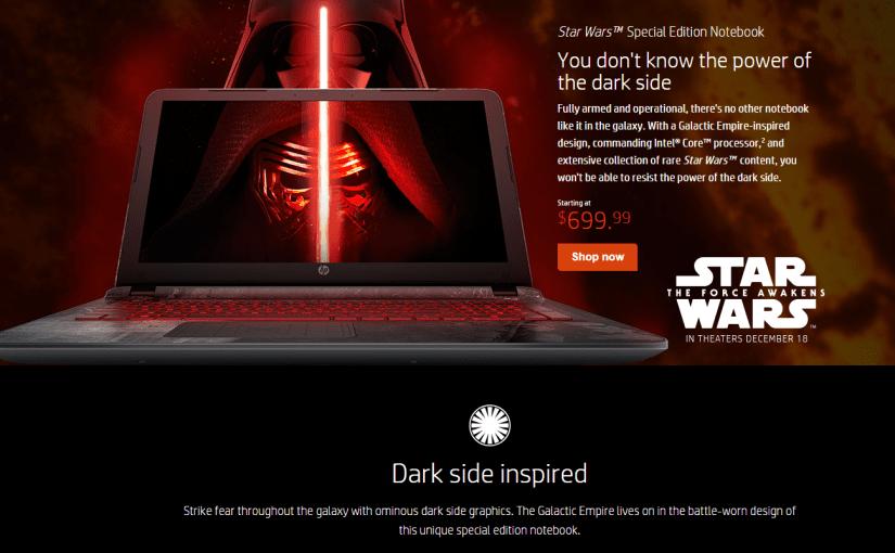 The Business of Art – <em> HP's Star Wars Laptops </em>