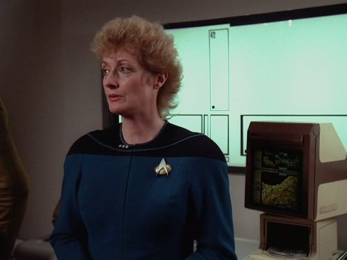 Image of Dr Pulaski from Star Trek The Next Generation.