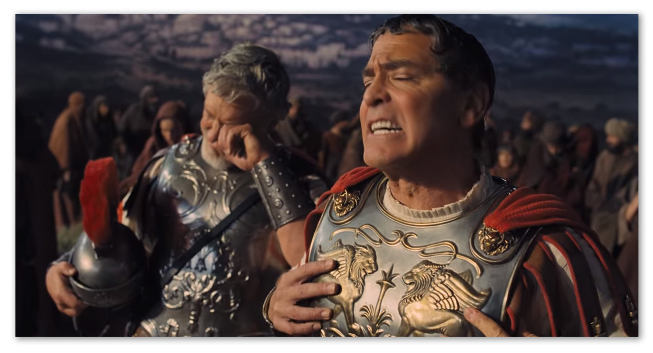 Image of George Clooney as the actor Baird Whitlock in the movie Hail, Caesar!