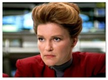 Image of Captain Kathryn Janeway on the Starship Voyager.
