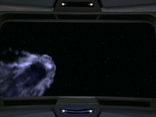 The comet prison holding a member of the Q Continuum (Star Trek Voyager, Death Wish, S2 E18)