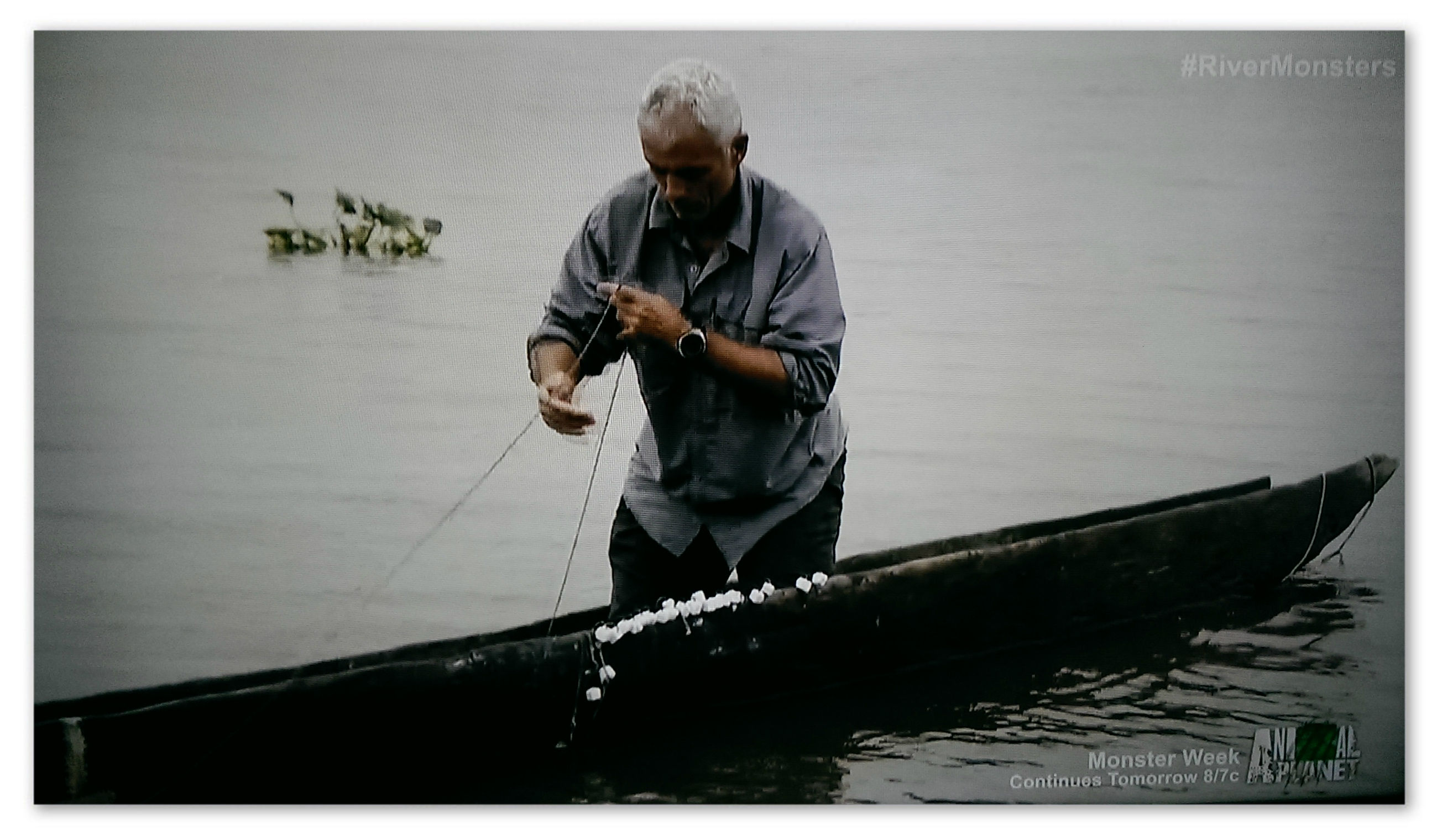 Image of Jeremy Wade fishing with cubes of soap