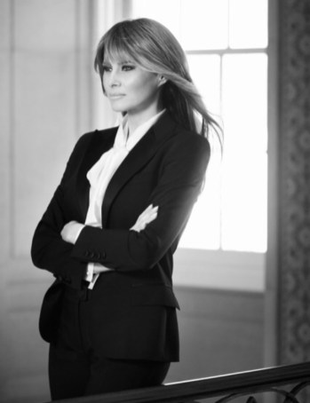 Melania Trump's official government portrait... at least for now. The portrait can be found at WH.gov