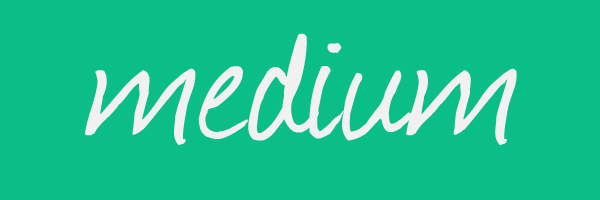 "Green colored banner with text that says ""medium"""