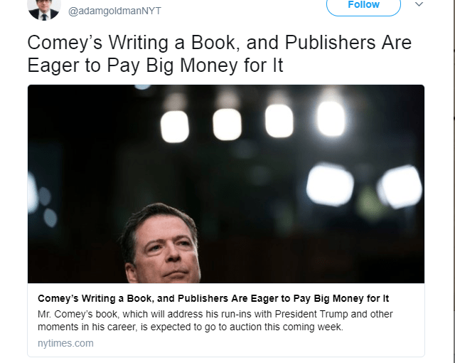 <em>James Comey's Future Book !!!</em>