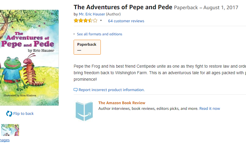 Update on That Pepe Children's Book