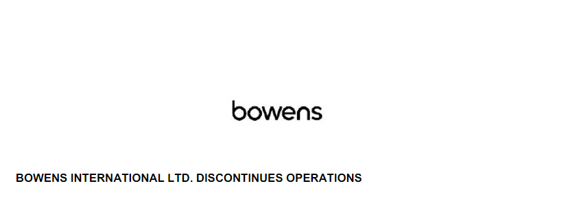 Bowens – Going Out With Style!