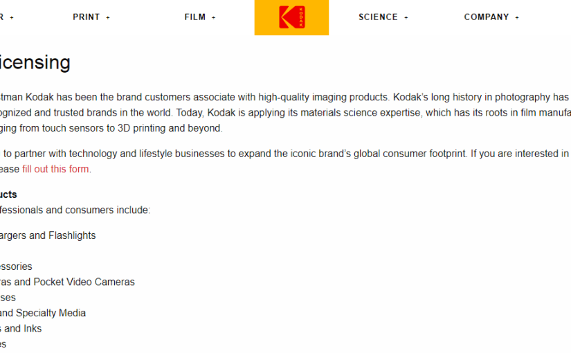 As Previously Mentioned – Kodak is no longer Kodak