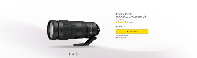 the nikon 200-500mm