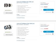The Canon EF 70-200mm f/4L USM Lens and Canon EF 70-200mm f/2.8L USM Lens.