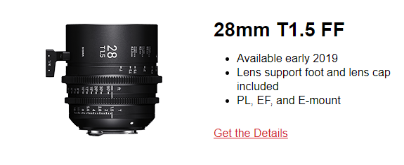 Sigma's new Cine Lenses!