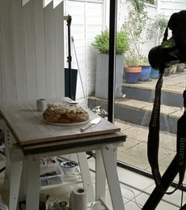 how to photograph food pink lady food