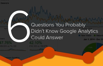 6 Questions You Probably Didn't Know Google Analytics Could Answer