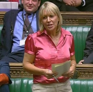 Nadine Dorries in House of Commons