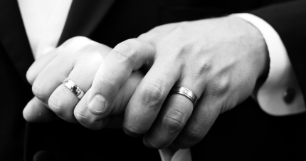 gay wedding rings marriage hands