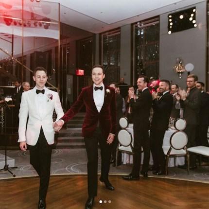 Wedding photo from Jim Parsons' wedding