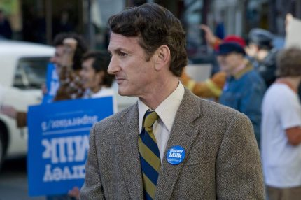 "Sean Penn plays Harvey Milk in ""Milk"" (Photo by Focus Features)"