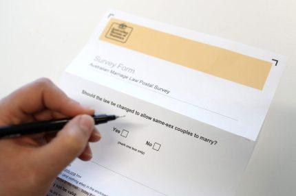 Same-sex marriage ballot paper