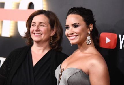 "LOS ANGELES, CA - OCTOBER 11: Youtube's global head of original content Susanne Daniels (L) and Demi Lovato attend the ""Demi Lovato: Simply Complicated"" YouTube premiere at The Fonda Theatre on October 11, 2017 in Los Angeles, California. (Photo by Emma McIntyre/Getty Images)"