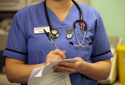 Picture of a nurse as study shows LGBT people suffer depression