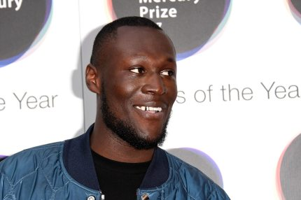 LONDON, ENGLAND - SEPTEMBER 14:  Stormzy arrives at the Hyundai Mercury Prize 2017 at Eventim Apollo on September 14, 2017 in London, England.  (Photo by Stuart C. Wilson/Stuart C. Wilson/Getty Images)