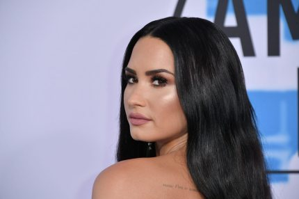 LOS ANGELES, CA - NOVEMBER 19: Demi Lovato attends the 2017 American Music Awards at Microsoft Theater on November 19, 2017 in Los Angeles, California. (Photo by Neilson Barnard/Getty Images)