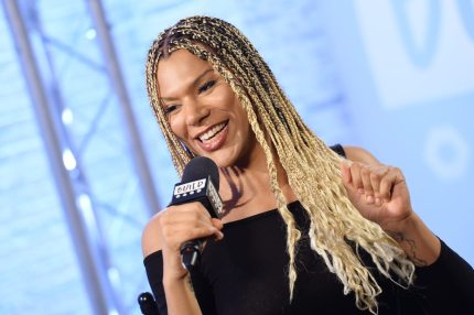 LONDON, ENGLAND - OCTOBER 11: Munroe Bergdorf during a discussion at BUILD London on October 11, 2017 in London, England. (Photo by Jeff Spicer/Getty Images)