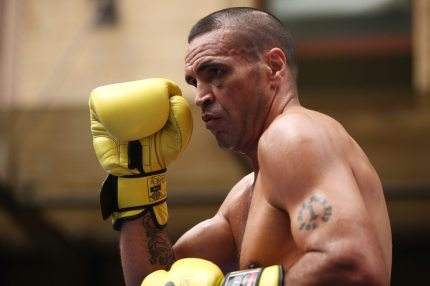 ADELAIDE, AUSTRALIA - JANUARY 30:  Anthony Mundine completes a Public Workout session ahead of the Anthony Mundine and Danny Green fight night on January 30, 2017 in Adelaide, Australia.  (Photo by Morne de Klerk/Getty Images)