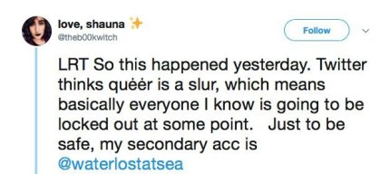 Tweet about what queer means