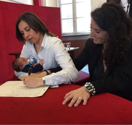 A lesbian couple made LGBT+ history in 2018 becoming the first to have both names on their child's birth certificate.