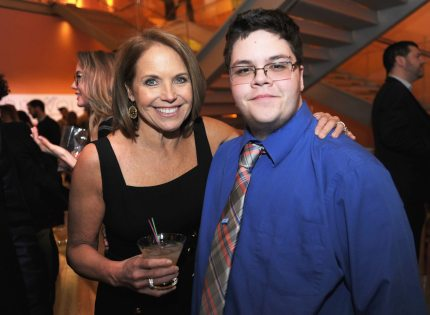 """NEW YORK, NY - FEBRUARY 02: Journalist Katie Couric (L) and Gavin Grimm attend as National Geographic hosts the world premiere screening of """"Gender Revolution: A Journey With Katie Couric"""" on February 2, 2017 in New York City. (Photo by Brad Barket/Getty Images for National Geographic)"""