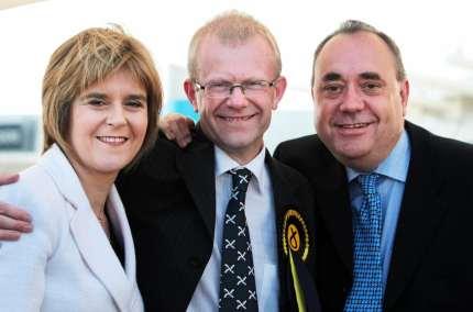 The Scottish National Party's Nicola Sturgeon. John Mason and Alex Salmond