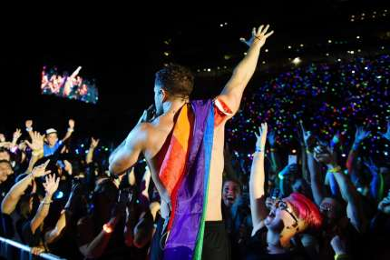 SALT LAKE CITY, UT - JULY 28:  Dan Reynolds of Imagine Dragons performs at 2018 LOVELOUD Festival Powered By AT&T at Rice-Eccles Stadium on July 28, 2018 in Salt Lake City, Utah.  (Photo by Jerod Harris/Getty Images for LOVELOUD Festival)