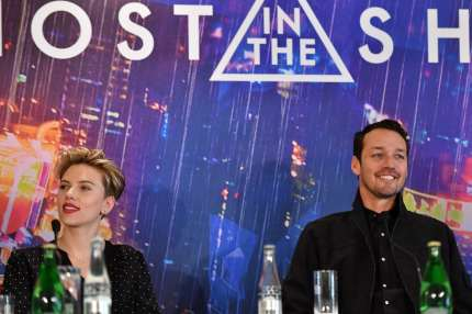 "PARIS, FRANCE - MARCH 22: Scarlett Johansson and Rupert Sanders attend the official press conference for the Paris Premiere of the Paramount Pictures release ""Ghost In The Shell"" at Hotel Le Bristol on March 22, 2017 in Paris, France. (Photo by Pascal Le Segretain/Getty Images For Paramount Pictures)"