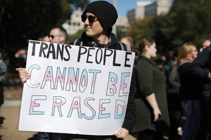 Transgender people suffer from depression and a high suicide rate