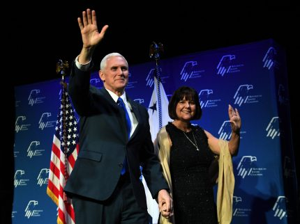 US Vice President Mike Pence and his wife Karen Pence.