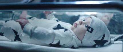 A baby in an advert for CELINUNUNU, Celine Dion's gender neutral clothing line