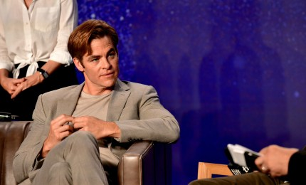 Chris Pine at an Outlaw King event
