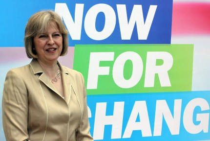 Theresa May at the Conservative Party conference in 2009
