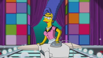 Marge Simpson in drag on The Simpsons