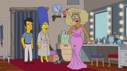 RuPaul on The Simpsons in drag
